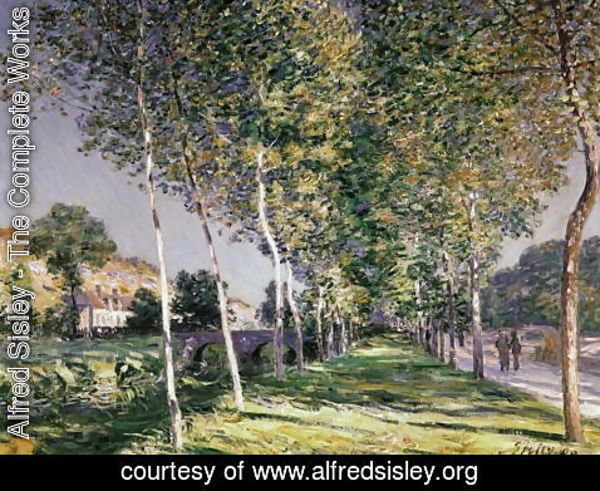 Alfred Sisley - A Road in Louveciennes, 1883