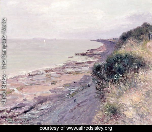 The Cliff at Penarth, Evening, Low Tide, 1897