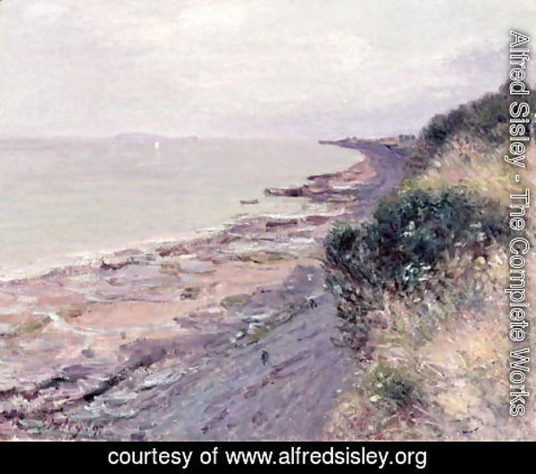 Alfred Sisley - The Cliff at Penarth, Evening, Low Tide, 1897