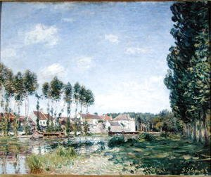 Alfred Sisley - Banks of the Loing, Moret, 1892