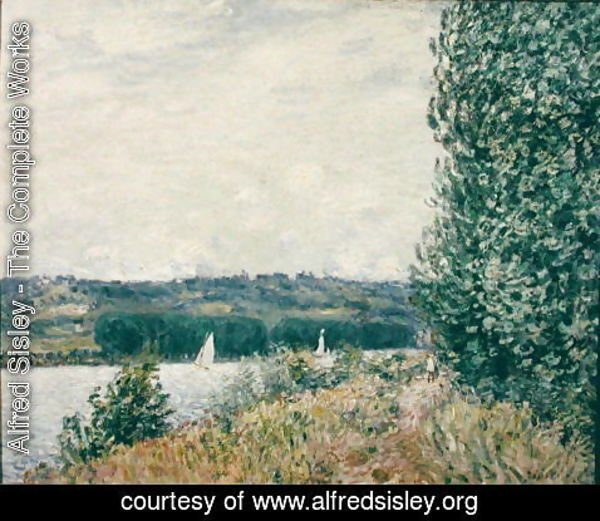 Alfred Sisley - The Seine at Bouille, a Gust of Wind, 1894