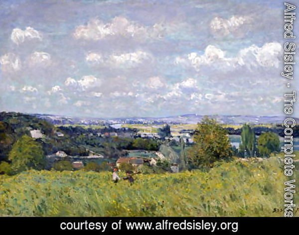 Alfred Sisley - The Valley of the Seine at Saint-Cloud, 1875