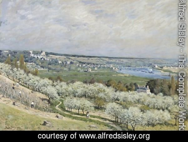 Alfred Sisley - The Terrace at Saint-Germain, Spring, 1875