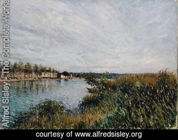 Alfred Sisley - View of Saint-Mammes, c.1880