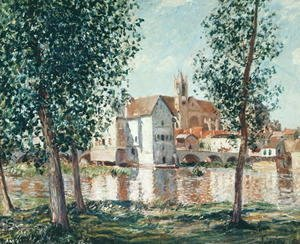 Alfred Sisley - The Loing at Moret, September Morning