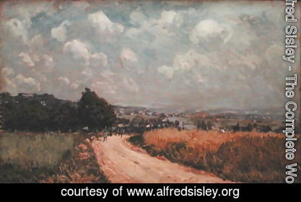 Alfred Sisley - Turning Road or, View of the Seine, 1875