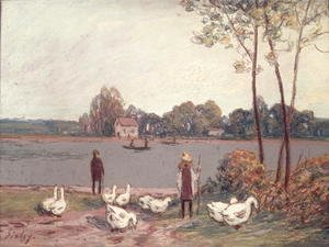 Alfred Sisley - On the Banks of the Loing