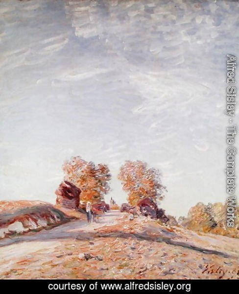 Alfred Sisley - Uphill Road in Sunshine, 1891