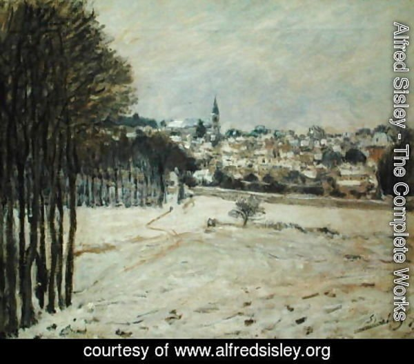 Alfred Sisley - The Snow at Marly-le-Roi, 1875