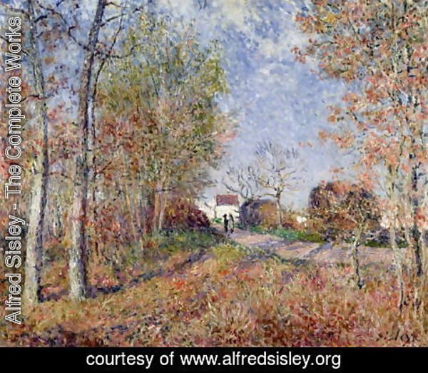 Alfred Sisley - A Corner of the Woods at Sablons, 1883