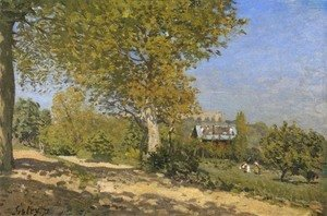 Alfred Sisley - Near Louveciennes, 1872