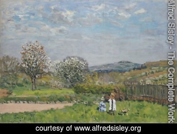 Alfred Sisley - Children playing in the Meadow