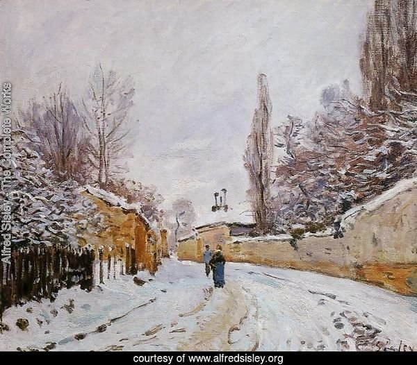 Road under Snow, near Louveciennes, 1876