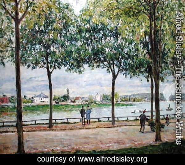 Alfred Sisley - The Avenue of Chestnut Trees, St. Cloud, 1878