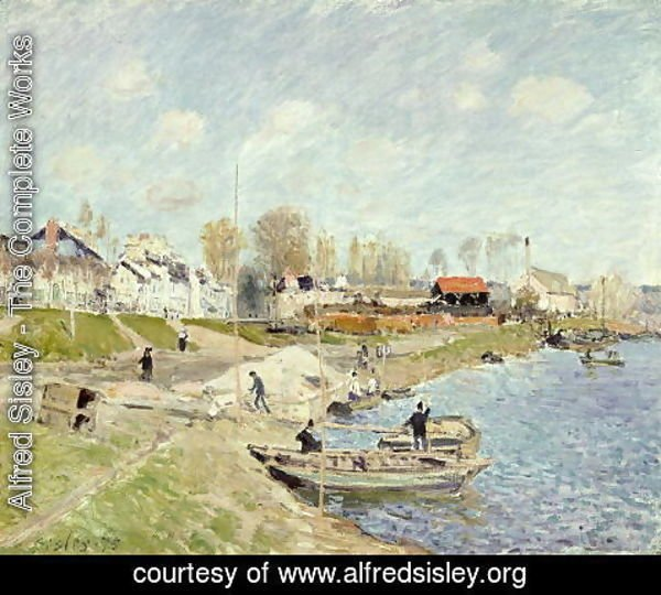 Alfred Sisley - The Quay at Sable near Port-Marly, 1875