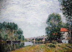 Alfred Sisley - The Banks of the Loing at Moret, 1886