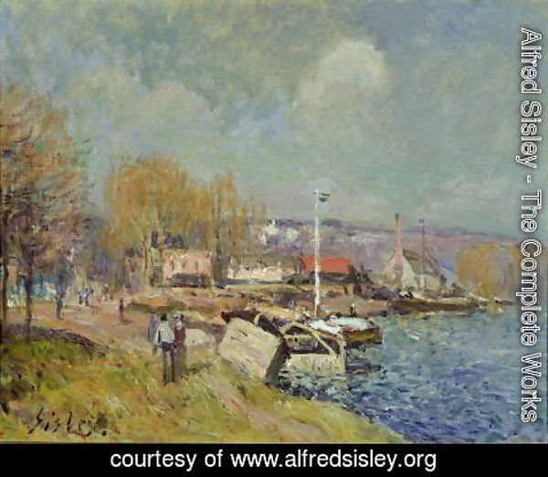 Alfred Sisley - The Seine at Port-Marly, 1877