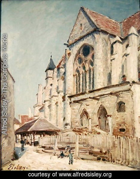 Alfred Sisley - The Church at Moret 2
