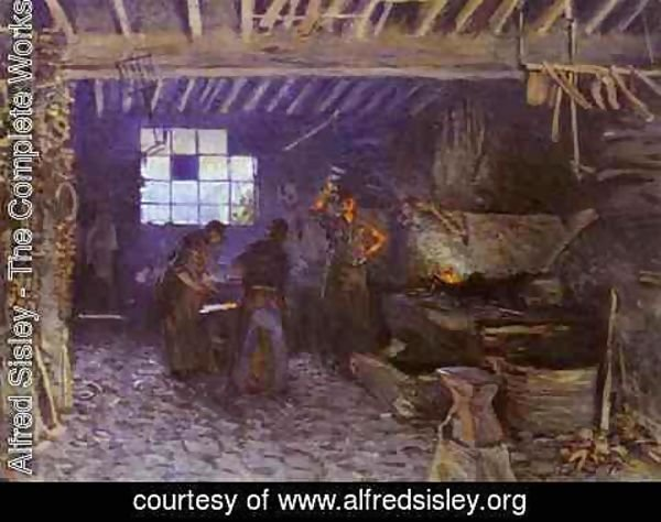 Alfred Sisley - The Forge at Marly-le-Roi, Yvelines, 1875
