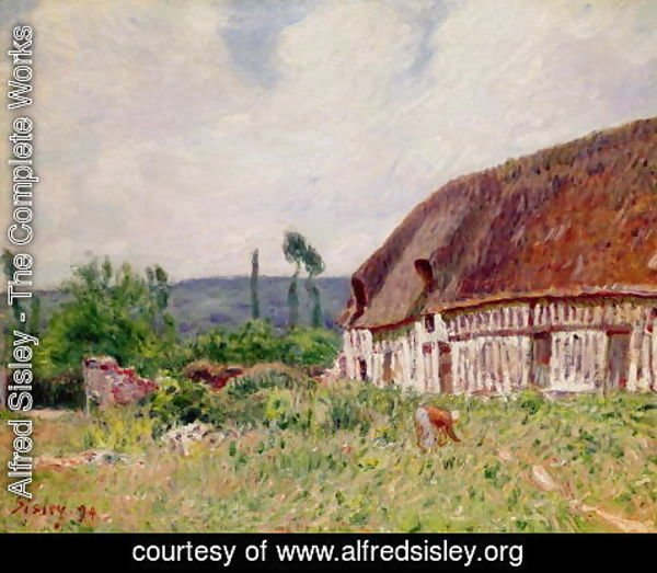 Alfred Sisley - Thatched Cottage in Normandy, 1894