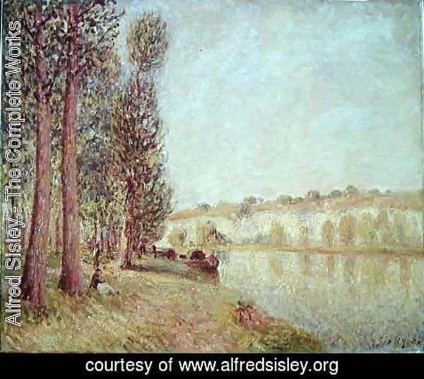 Alfred Sisley - The Loing at Moret, 1888