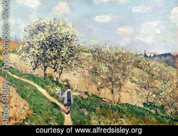 Alfred Sisley - Springtime at Bougival