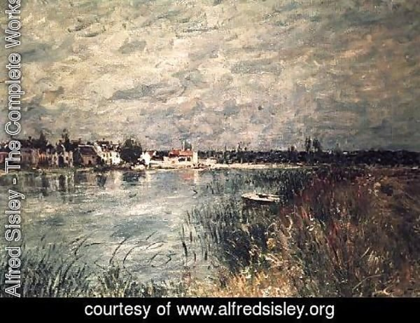 Alfred Sisley - The River Banks at Saint-Mammes 2