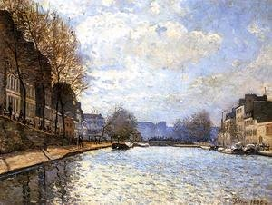 Alfred Sisley - View of the Canal Saint-Martin, Paris, 1870