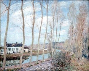 Alfred Sisley - The Loing Canal, 1892