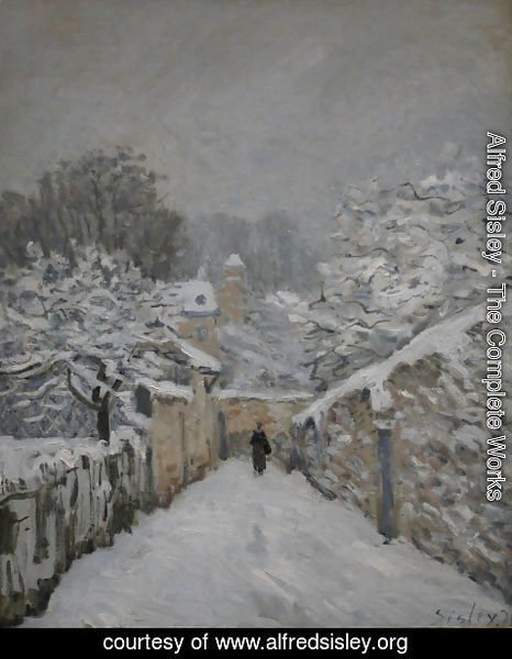 Alfred Sisley - Snow at Louveciennes, 1878