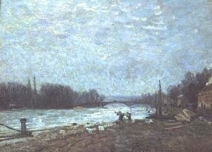 After the Thaw, the Seine at Suresnes Bridge, 1880