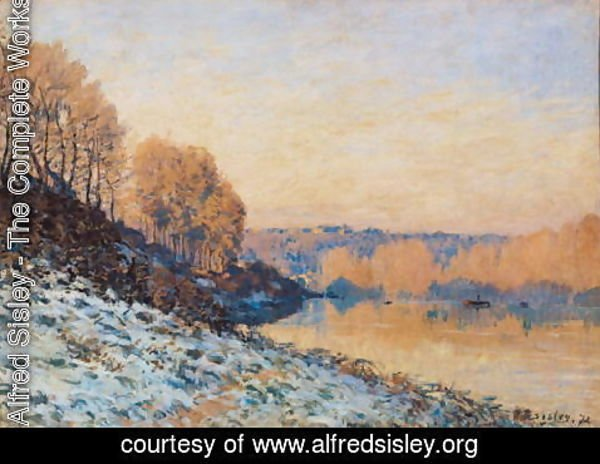 Alfred Sisley - Port-Marly, White Frost, 1872