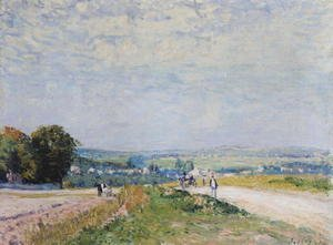 Alfred Sisley - The Road to Montbuisson at Louveciennes, 1875