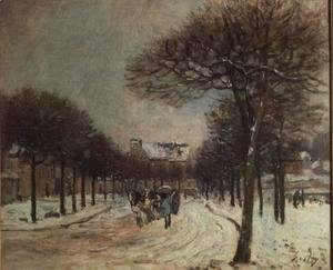 Alfred Sisley - The Road to Saint-Germain at Marly, 1874-5