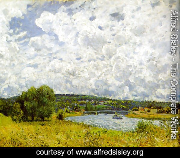 Alfred Sisley - The Seine at Suresnes, 1877