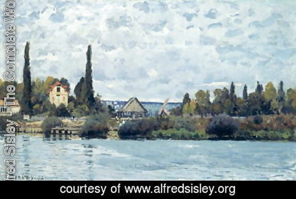 Alfred Sisley - The Seine at Bougival, 1873 2
