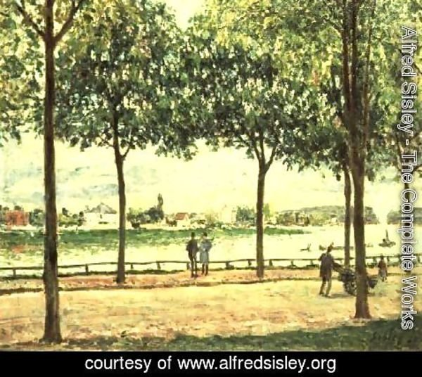 Alfred Sisley - Street of Spanish Chestnut Trees by the River, 1878
