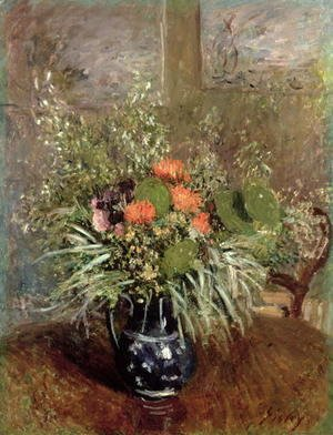 Alfred Sisley - Still Life of Wild Flowers