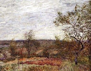 Alfred Sisley - Windy Day at Veneux, 1882