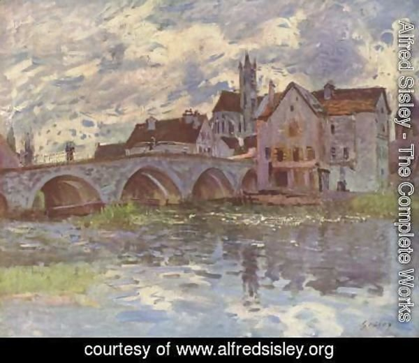 Alfred Sisley - The Bridge of Moret-sur-Loing, 1887