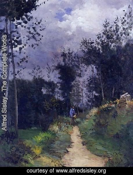 Alfred Sisley - Rural Guardsman in the Fountainbleau Forest