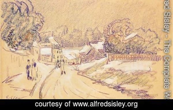 Alfred Sisley - Early Snow at Louveciennes I