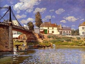 Alfred Sisley - Bridge at Villeneuve-la-Garenne