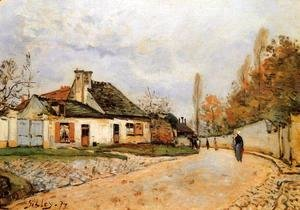 Alfred Sisley - Neighborhood Street in Louveciennes