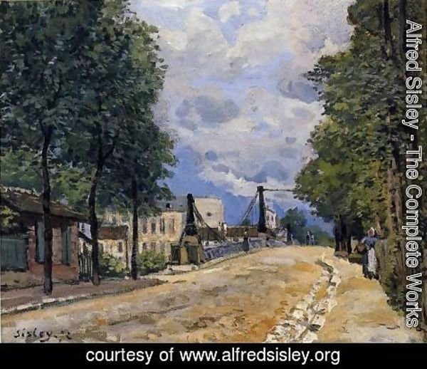 Alfred Sisley - The Road from Gennevilliers
