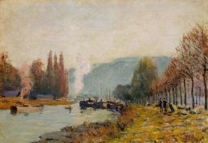 Alfred Sisley - The Seine at Bougival I