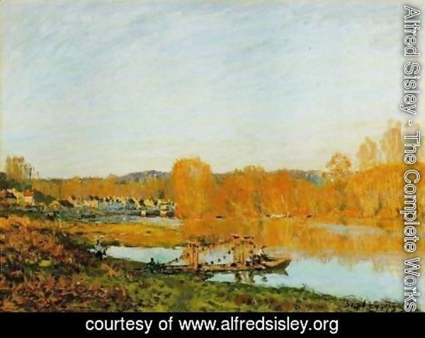 Alfred Sisley - Autumn - Banks of the Seine near Bougival