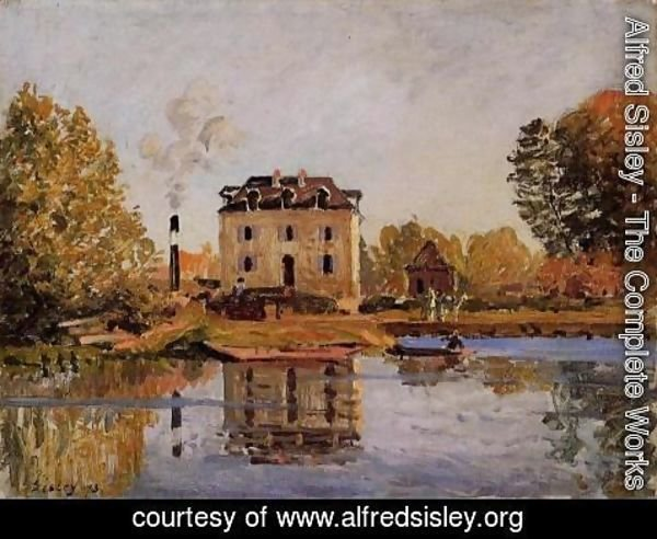 Alfred Sisley - Factory in the Flood, Bougival