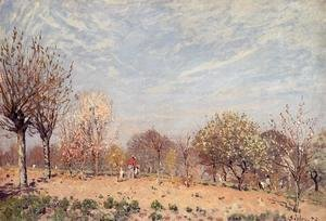 Alfred Sisley - Apple Trees in Flower, Spring Morning