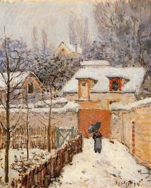 Alfred Sisley - Snow at Louveciennes I